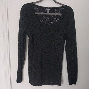 Black lace shirt